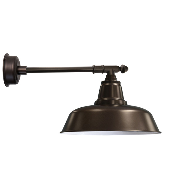 "14"" Goodyear LED Barn Light with Victorian Arm - Mahogany Bronze"