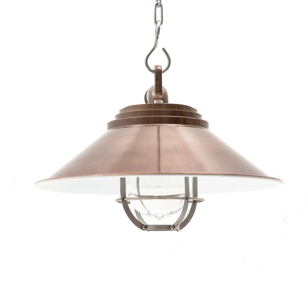 Albury Nautical Pendant Light in Vintage Brass