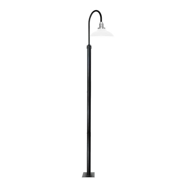 "132"" Peony Designer Outdoor High Street Light with 10"" Shade - White"