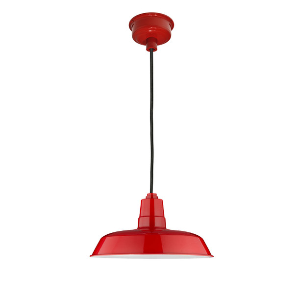 "18"" Oldage LED Barn Light - Cherry Red"