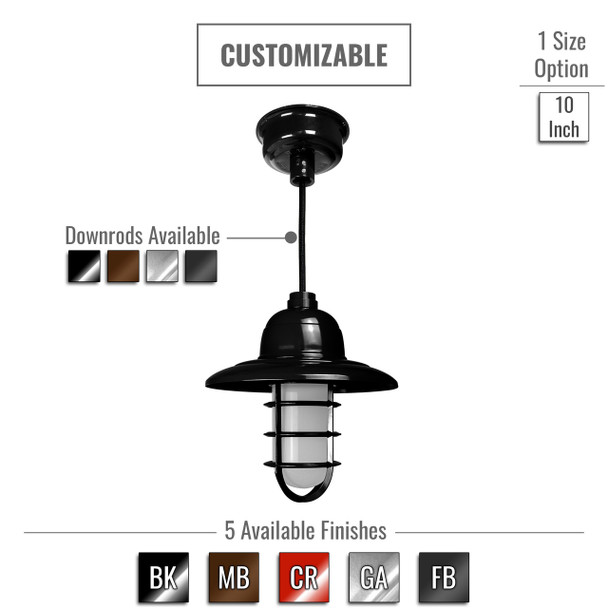 Customizable Pottery Barn LED Pendant/Ceiling Light - Indoor (0BFR)