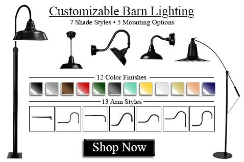 Cocoweb Customizable LED Barn lights