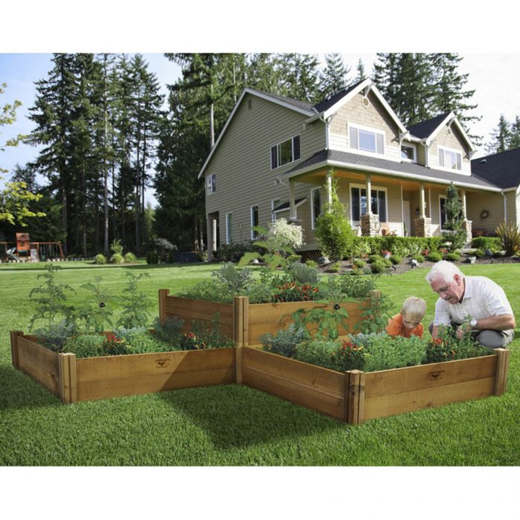 Modular Raised Garden Bed 48x48x13   Two Level