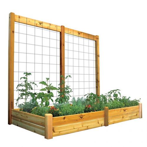 "Raised Garden Bed with Trellis Kit 48x95x80 - 10""D"