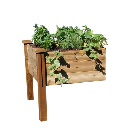"Modular Elevated Garden Bed 34""Wx34""Lx32""H  Extension Kit Safe Finish"