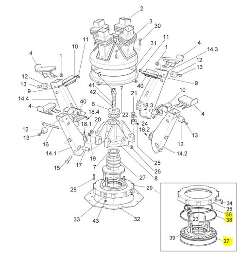 REPAIR KIT, Clamping Brake; for Hunter