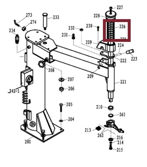 SPRING, Vertical Mounting Bar; Ranger Tire Changers