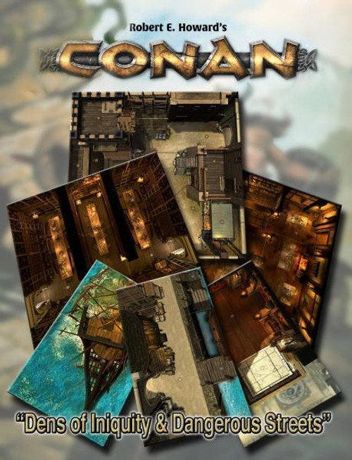 Conan RPG: Dens of Iniquity & Streets of Terror Geo. Tile Set