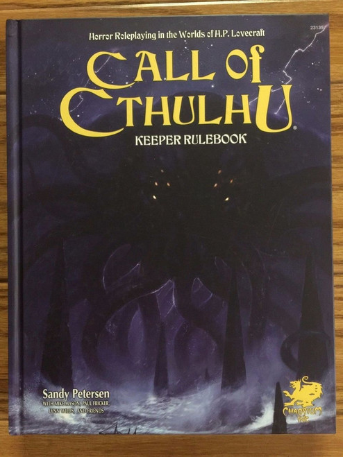 Call of Cthulhu: Keeper Rulebook 7th Edition by Chaosium (Hardcover) CHA23135