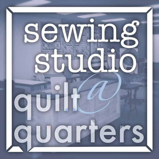 sewing studio at quilt quarters