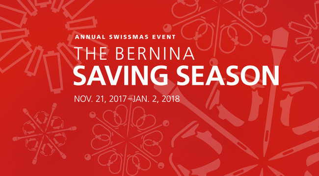 Bernina Holiday Sales Event