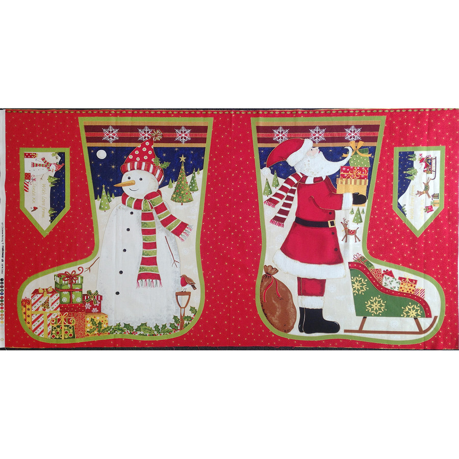 Stocking Fabric Panel