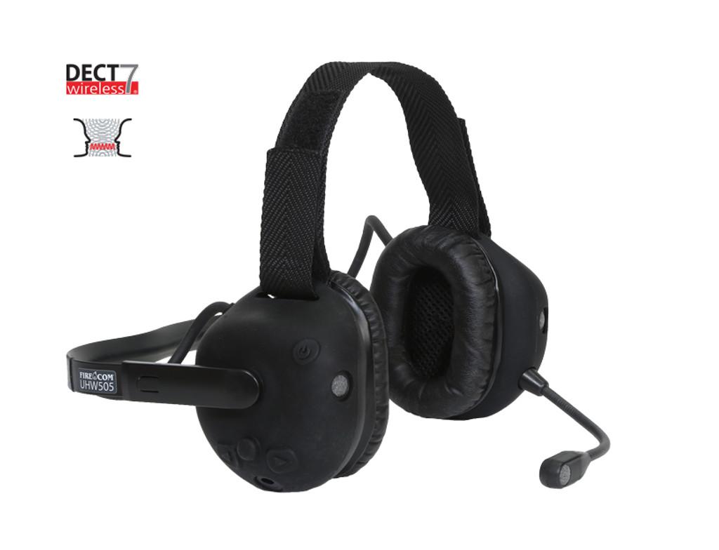 FireCom #UHW505 Radio Transmit Under-Helmet DECT7 Wireless Headset