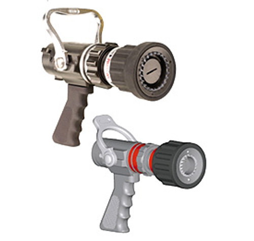 "Elkhart #PSFS-HPG 1"" Phantom Handline Nozzle with Pistol Grip - 15, 30, 45, 60 GPM @ 100 PSI"