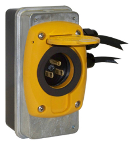 Kussmaul #091-55-15-120-YLW Super Auto Eject 15 Amp - 120V with Yellow Cover
