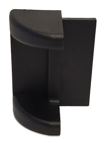 #288214 Rub Rail Corner Molding Cap - Black