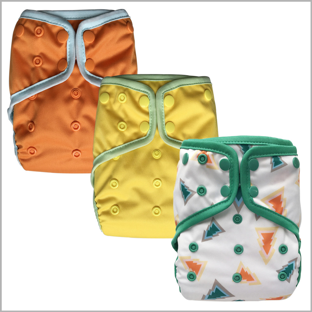 Waterproof PUL Cloth Diaper Cover, Snaps