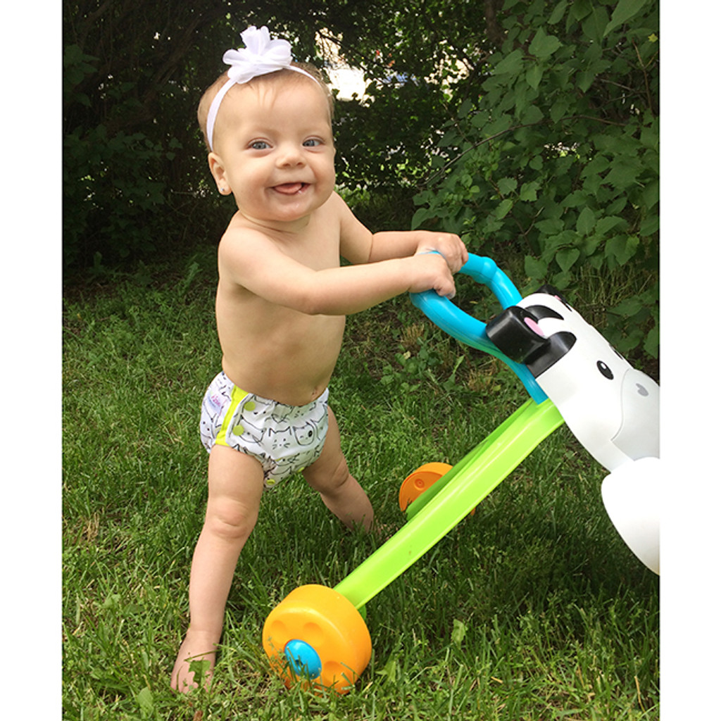 3-in-1 Hybrid Cloth Diaper, Potty Trainer and Swim Diaper, 3-Pack