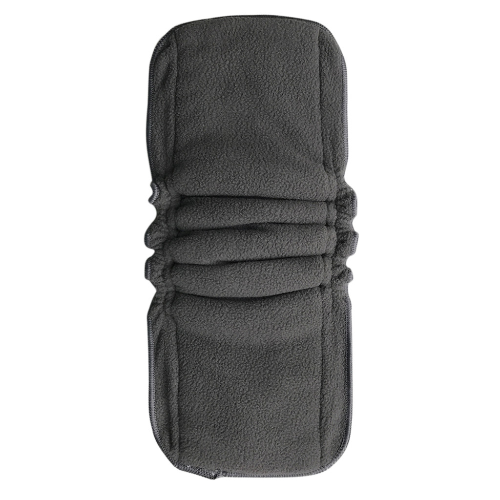Snap-in Bamboo Inserts with Anti-Leak Gussets for Baby Cloth Diapers