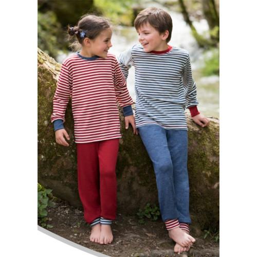 Kids Thermal Pajama Lounge Pants, 100% Organic Wool, 2-8 Years
