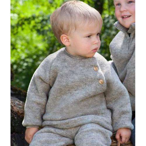 Baby Ultra Warm Raglan Sweater, 100% Organic Wool Fleece, 0-24 Months