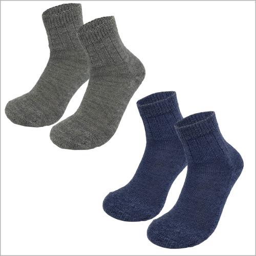 100% Organic Virgin Wool Ankle Socks, Sizes 6-11.5 for Men and Women (3 pairs)
