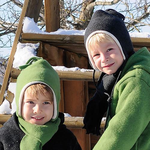 Kids Winter Hat With, Organic Merino Wool Cotton, Newborn – 10 Years