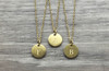 Lowercase Necklace from k to o in Gold