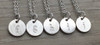 Lowercase Necklace from f to j in Silver