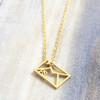 Origami Envelope Necklace