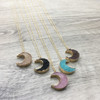 Crescent Resin Druzy Necklace