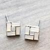 Open Square Earrings in Gold
