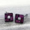 Swarovski Open Square Earrings in Gunmetal