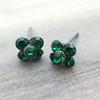 Swarovski Flower Earrings in Gunmetal