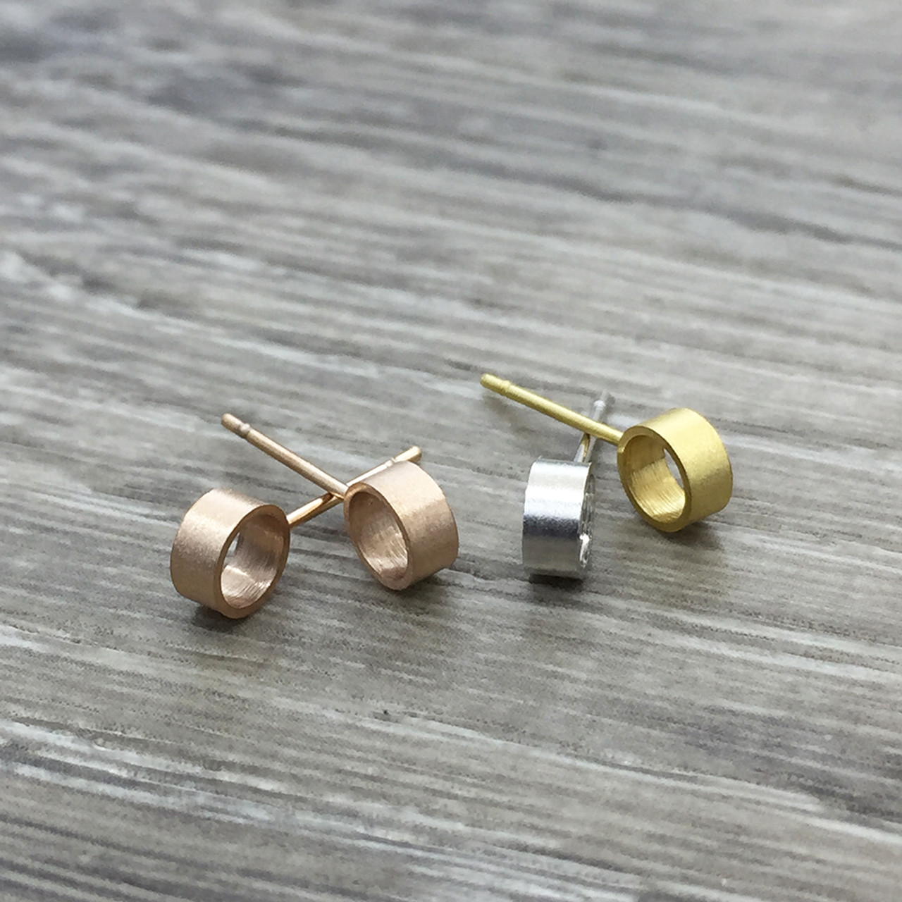 b3bbdefd6035 Brushed 3D circle earring - FAB Accessories Inc.