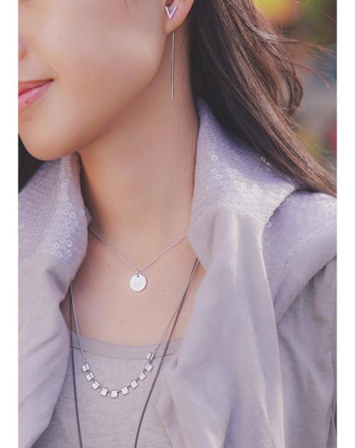 Classic Multi Square Drop Necklace