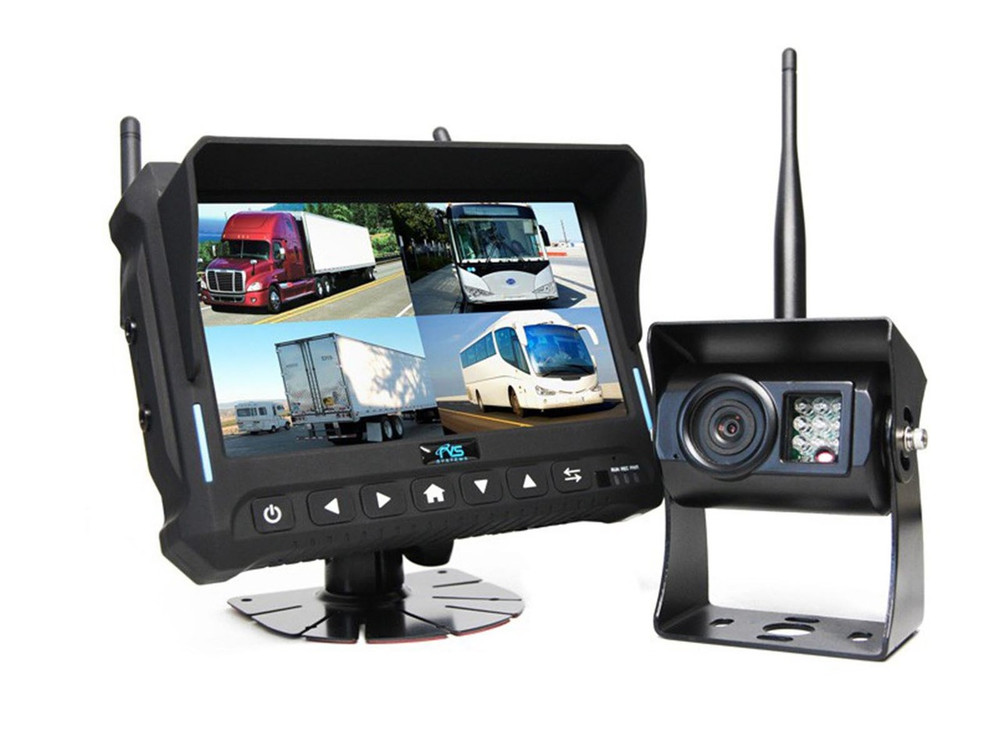 """7"""" Wireless Monitor for Vehicles with Built-in DVR"""