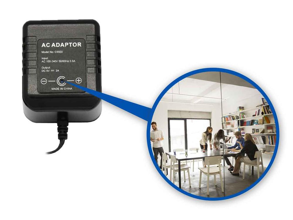 An AC Adapter Hidden Camera