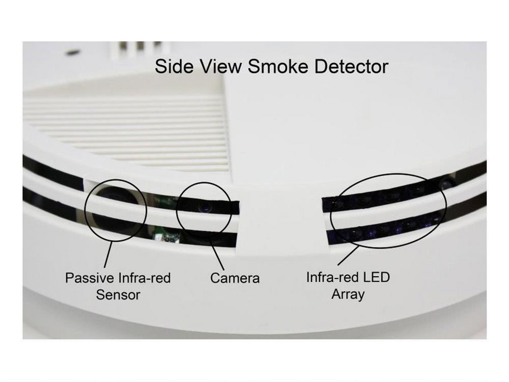Battery Operated WiFi Smoke Detector Camera