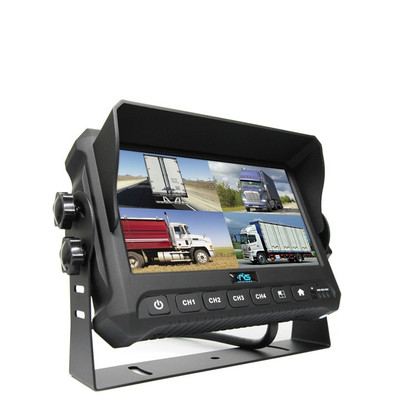 """7"""" Digital Quad View Color Monitor With Built-In DVR"""