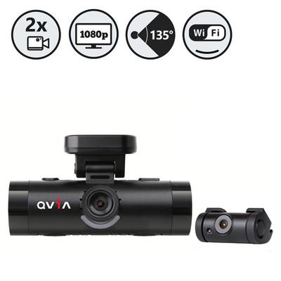 QVIA 16GB 2 Channel Full HD Blackbox Dash Camera