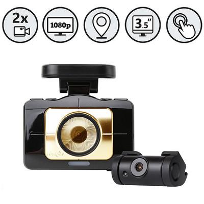 Lukas Dual Lens Dash Camera With GPS And ADAS (8GB+32GB)
