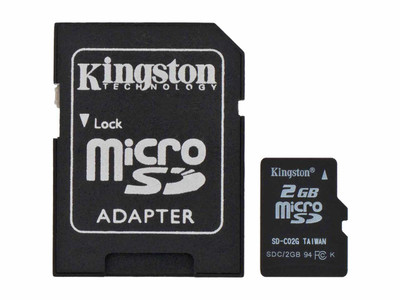 2GB Micro SD Card with Adapter