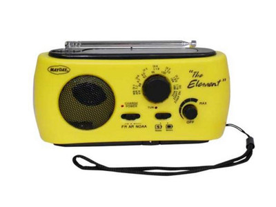 AM/FM Solar Dynamo Radio with Flashlight