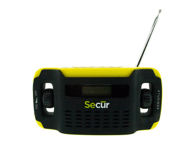 Secur SP-2000 Digital Solar Radio and LED Flashlight