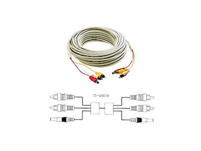 67 ft./20M RCA & DC Dual Cable