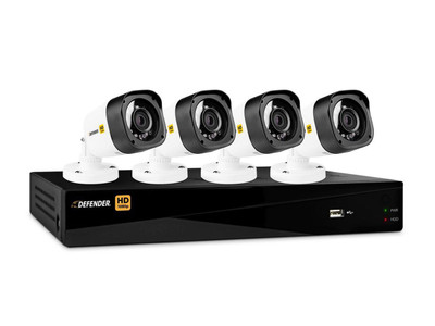 Defender 4 Channel DVR Featuring 4 Bullet Cameras