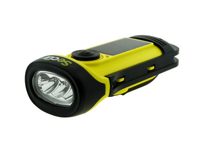 Secur SP-1002 Waterproof Solar / Dynamo LED Flashlight
