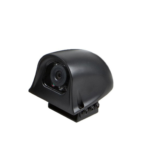 The best side camera that provides 120 viewing angle. It's completely waterproof design can withstand any weather. Along with it's 9 infrared illuminators, it also uses a High Dynamic Range Imaging technique that lets drivers see up to 50 ft in total darkness and delivers a dynamic clear video footage with rich-detail to view your blind spots.