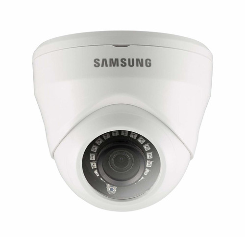 The Samsung 1080p Dome Camera delivers HD resolution and True Day & Night with ICR for perfect color reproduction. It provides 1080p HD real-time recording for smooth playback and clear imaging, allowing you to make out details missed on lower resolution cameras. For accurate, vibrant colors in low light and nighttime conditions, the 2 Megapixel HD camera utilizes an advanced IR Cut Filter and enter into Night Vision mode to capture clear, illuminated footage of your home and business up to 82 ft.The camera is rated IP66 and is built to withstand extreme weather conditions. It can be installed anywhere around your home as it is durable, weatherproof, and night vision capable. This Security Dome camera is also referred to as a ?Turret? Type Dome or Eyeball Dome Camera. The Ball Lens inside the turret (base) can be moved around in any direction and even spun around so you are always sure to get the perfect viewing angle. The Samsung SDC- 9443DF is compatible with any Samsung 1080p Full